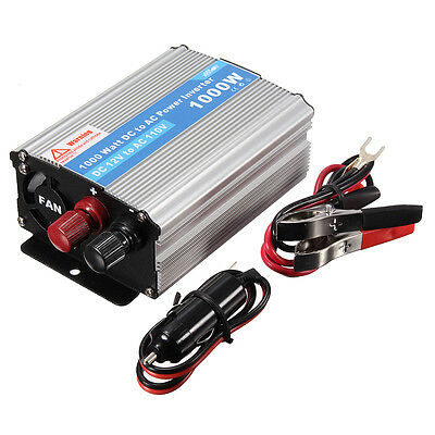 1000W Power Inverter Charger Converter DC 12V to AC 220V For Car Truck Auto