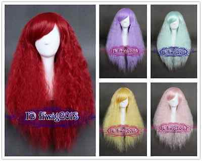 Women's Fashion Long Rhapsody fluffy Curly wave hair Synthetic cosplay full Wigs