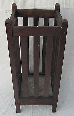 Antique Arts & Crafts Period Mission Oak Craftsman Umbrella Hall Stand