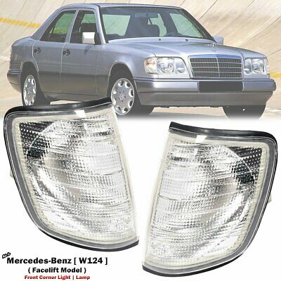 Replacement 1~Pair Front White Signal Lamp Light fit Mercedes-Benz W124 86-93