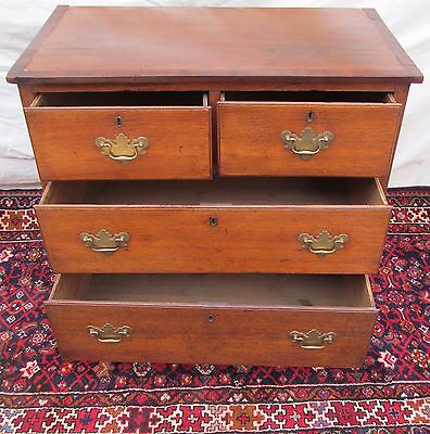 18Th C George Iii English Yew Wood Antique Dresser / Bachelors Chest