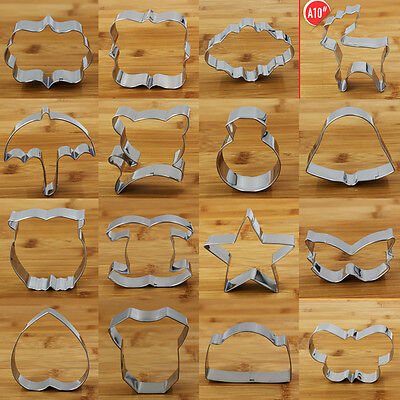60Shapes Buscuit/Cake/Jelly Metal Cutter stainless steel Mould Bake DIY tool A7