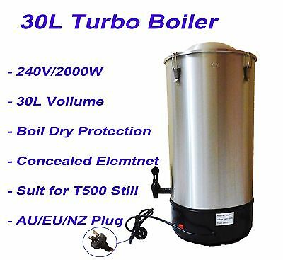 30L Stainless Steel Electrical Turbo Boiler 2000W Homebrew Suit for T500 Still