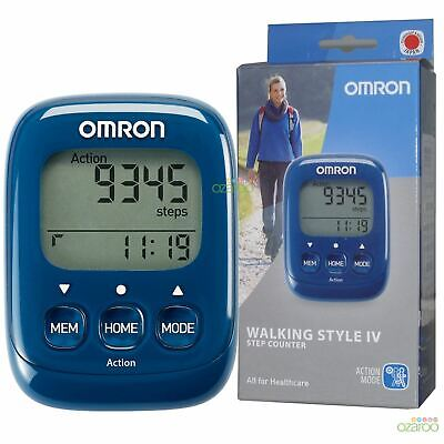 Omron Walking Style IV Exercise Step Calorie Counter Activity Monitor Pedometer