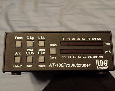 LDG AT-100Pro Automatic Antenna Tuner for HF and 6 meters 1.8 to 54 mHz