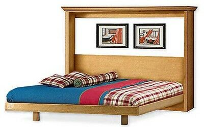 Easy Murphy Horizontal Bed Frame, Queen Size Woodworking Plans, 1QHWB
