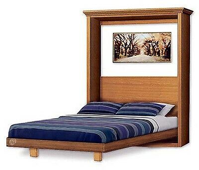 Murphy Craftsman Design Bed Frame, Queen Size Wall Bed Woodworking Plans, 2QVWB
