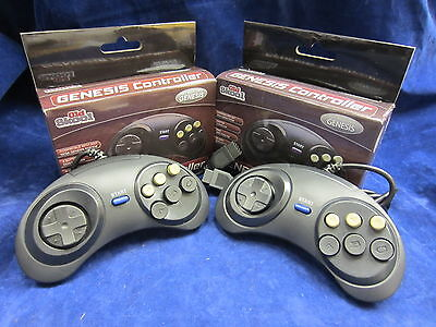2 x Old Skool SEGA Genesis 6 Button Controller for Genesis 1 / 2 / 3