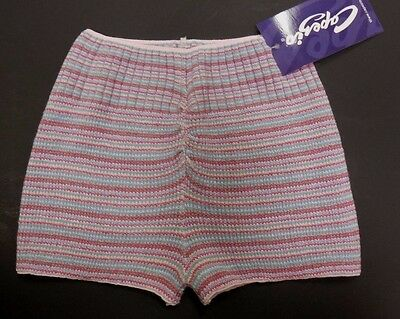 NWT CAPEZIO Soft  KNIT HIPSTER SHORTS BOU EXTRA SMALL ADULT  STRIPED