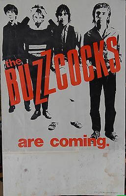 Buzzcocks Are Coming Original Promo Poster Late 1970's Punk