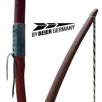 Marksman bow 70 Zoll Farbe dunkel Natur,mit Ledergriff