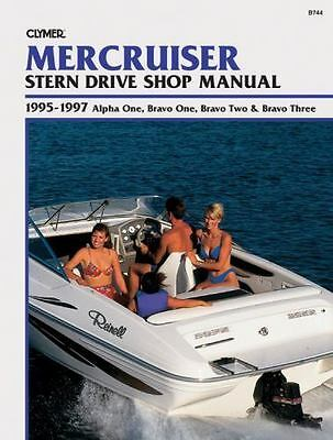 1995 1996 1997 MerCruiser OutDrive Alpha Bravo One/Two/Three Repair Manual B744