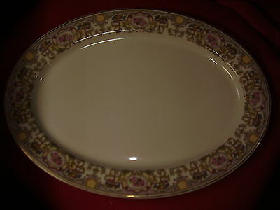 VINTAGE 14IN. OLD IVORY SYRACUSE CHINA PLATTER-FLORAL  and FRUIT PATTERN