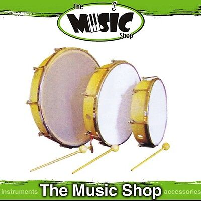"""New Mano Percussion 10"""" Tunable Tambour - Wooden Frame w Plastic Head - UE776"""