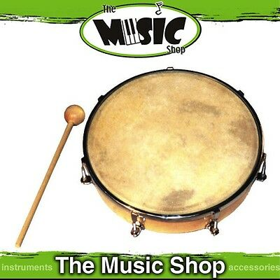 "New Powerbeat 10"" Tunable Tambour - Wooden Frame w Calf Skin Head - ED259"