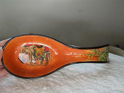"""""""NEW WEST INDIES"""" Pictorial ELEPHANT SPOON REST~Multi-Colored CERAMIC"""