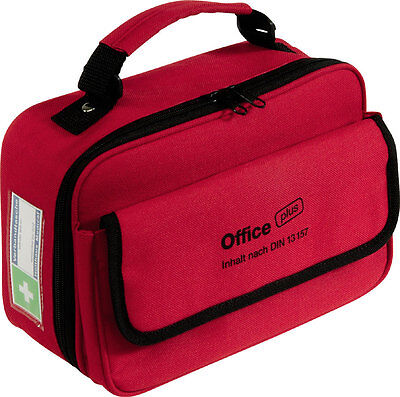 Holthaus Verbandtasche Office plus DIN 13157 + Stift + Verbandbuch rot 63157