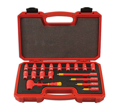 Insulated Vde Certificated 1/4 Socket Set Extension Ratchet Tool Kit - Superb!!