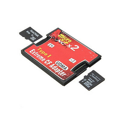 2 Port Micro SD TF SDHC Pour Type I 1 Compact Flash Card Adapter Lecteur CF Bon