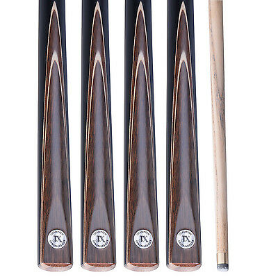 """New 3/4 Piece 57"""" 4A Ash Handmade Snooker Cue Sets W/ Extension & Case #TSC9"""