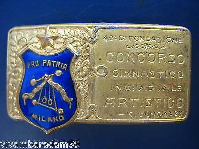 Distintivi Milano Pro Patria Concorso Ginnastico 1923 Original Old Gym Badge