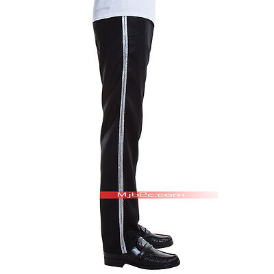 Michael Jackson Costume Billie Jean Pants Trousers Silver Stripe