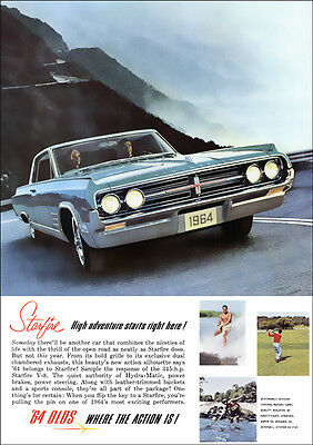 Oldsmobile Starfire Retro A3 Poster Print From Advert 1964