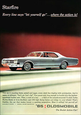 Oldsmobile Starfire Retro A3 Poster Print From Advert 1965
