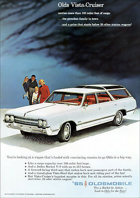 Oldsmobile 65 Vista Cruiser Station Wagon Retro A3 Poster Print From Advert 1965
