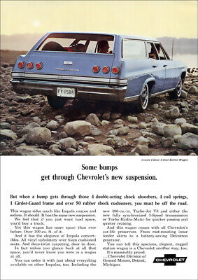 Chevrolet 65 Impala Station Wagon Retro A3 Poster Print From Advert 1965