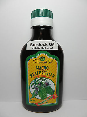 NATURAL Burdock Oil with Nettle Extract Hair Recovery & Scalp Treatment, 100 ml
