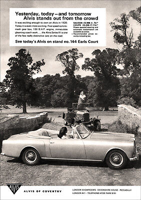 Alvis 3 Litre Series 3 & 1920 Alvis Retro Poster A3 Print From 60's Advert