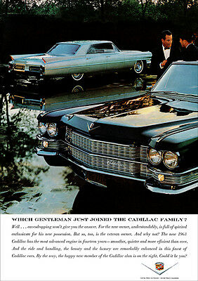 1963 Cadillac Sedan Deville Retro A3 Poster Print From Advert 1963