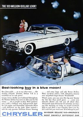 Chrysler Windsor Convertible & Hardtop 1955 Retro A3 Poster Print From Advert