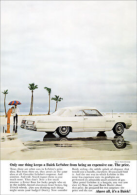 Buick Le Sabre Convertible Retro A3 Poster Print From Classic Advert 1964