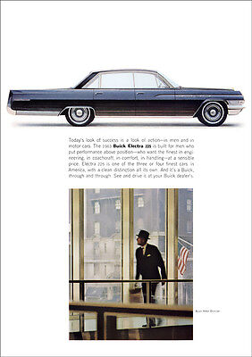 Buick Electra 225 1963 Retro A3 Poster Print From Classic Advert 1963
