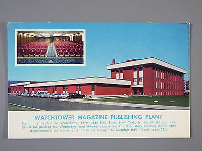 R&L Postcard: Watchtower Magazine Plant (Awake)/Jehovah's Witnesses New York