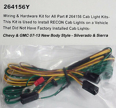 oem new roof marker lamp light wiring harness silverado sierra 2007 2013 chevy silverado gmc hd recon 264156 cab roof light oem wiring harness
