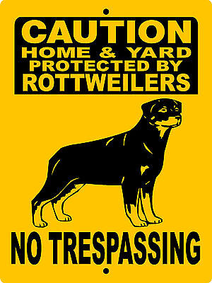 "ROTTWEILER DOG SIGN,NO TRESPASSING SIGN,GUARD DOG,9""x12"" ALUMINUM SIGN ,2496RNT"