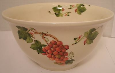 Teleflora Grape Grapevine Made in Portugal Serving Bowl Green Brown Red 1984