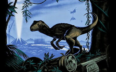 "006 Jurassic World - Upcoming Science Fiction Adventure Film 22""x14"" Poster"