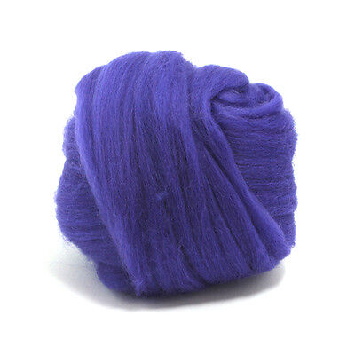 50g DYED MERINO WOOL TOP ULTRA VIOLET DREADS 64's SPINNING FELTING ROVING
