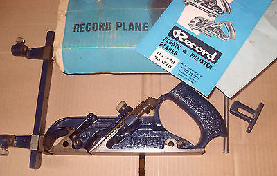 Record No.778 Rebate Plane - Made In England - 1 Bar Missing