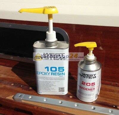 West-System 105-205 A-Pack Epoxy Resin + Pompe 301A - 1,2kg kg Ep-Résine