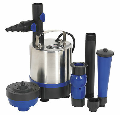 STAINLESS 3000ltr/hr SUBMERSIBLE WATER POND PUMP FOUNTAIN FILTRATION CIRCULATION