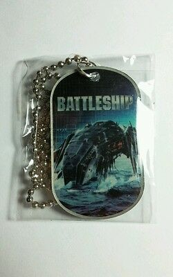 BATTLESHIP SHIP ON TOP WATER #23 DOGTAG DOG TAG MOVIE PENDANT NECKLACE