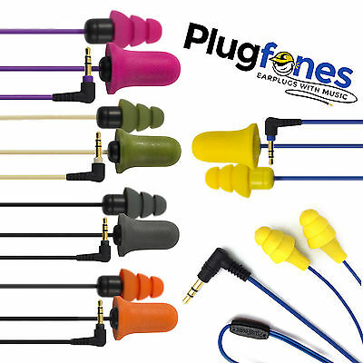 PLUGFONES EAR PHONES That Are EARPLUGS All New Designs - FREE UK P&P
