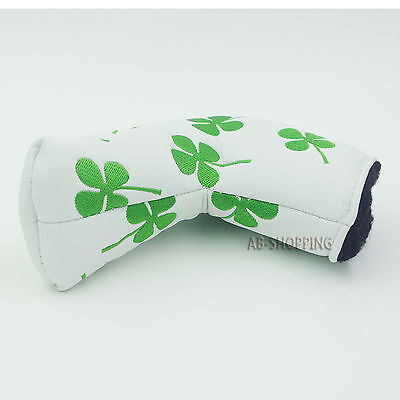 Lucky Clover Headcover Putter Cover For Scotty Cameron Taylormade Odyssey Blade
