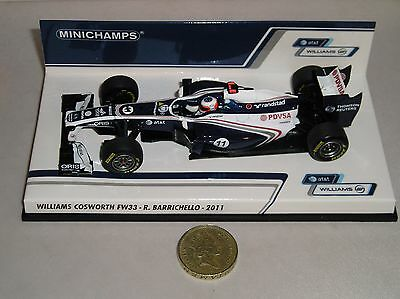 Minichamps 410110011 Williams Cosworth Fw33  Formula 1 Car 2011 Barrichello 1:43