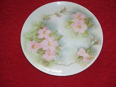 Vingage Hand Painted Pink Roses China Plate